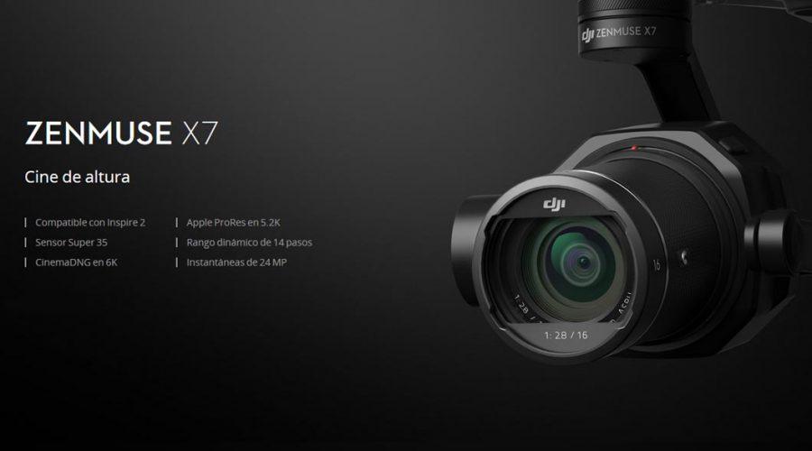 Video Câmara para drone DJI Zenmuse X7