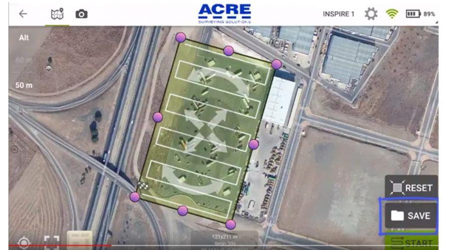 Video Software de voo planificado para drone Pix4Dcapture