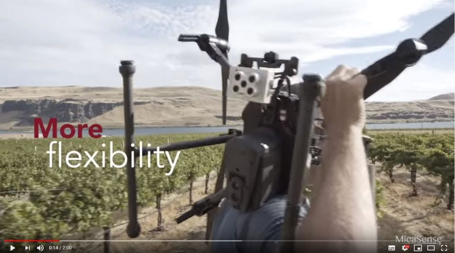 Video Cámara multiespectral sistema dual RedEdge-MX Blue Micasense