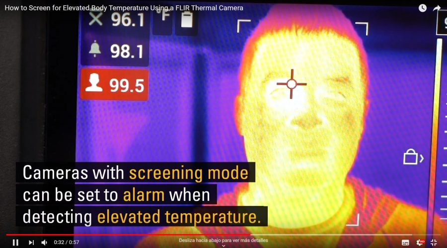 Cámaras termográficas para detección de fiebre