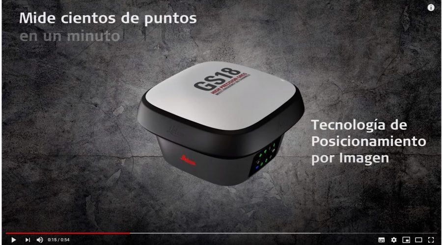 Video Antena GNSS Leica GS18 I