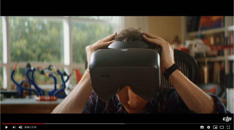 Video DJI Goggles Racing Edition óculos para drone