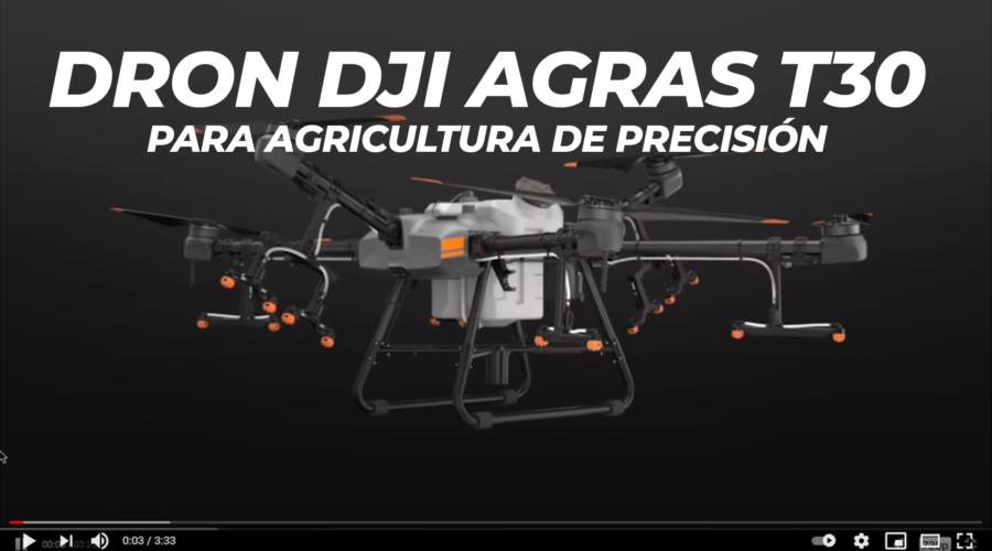 Video Drone DJI AGRAS T30 para agricultura de precisão